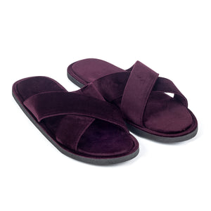 Kids New Roman Velvet Slippers (Purple)