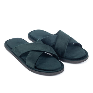 Kids New Roman Domani Slippers© (Bottle Green)