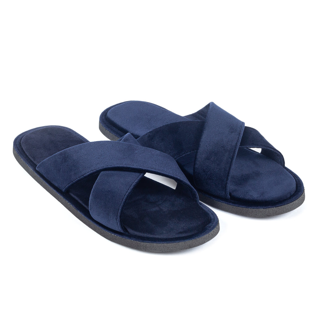 Kids New Roman Domani Slippers© (Navy)