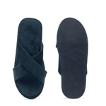 Kids New Roman Velvet Slippers (Bottle Green)