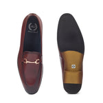 Italian Cut Horsebit Buckle Slipons (Burgundy)