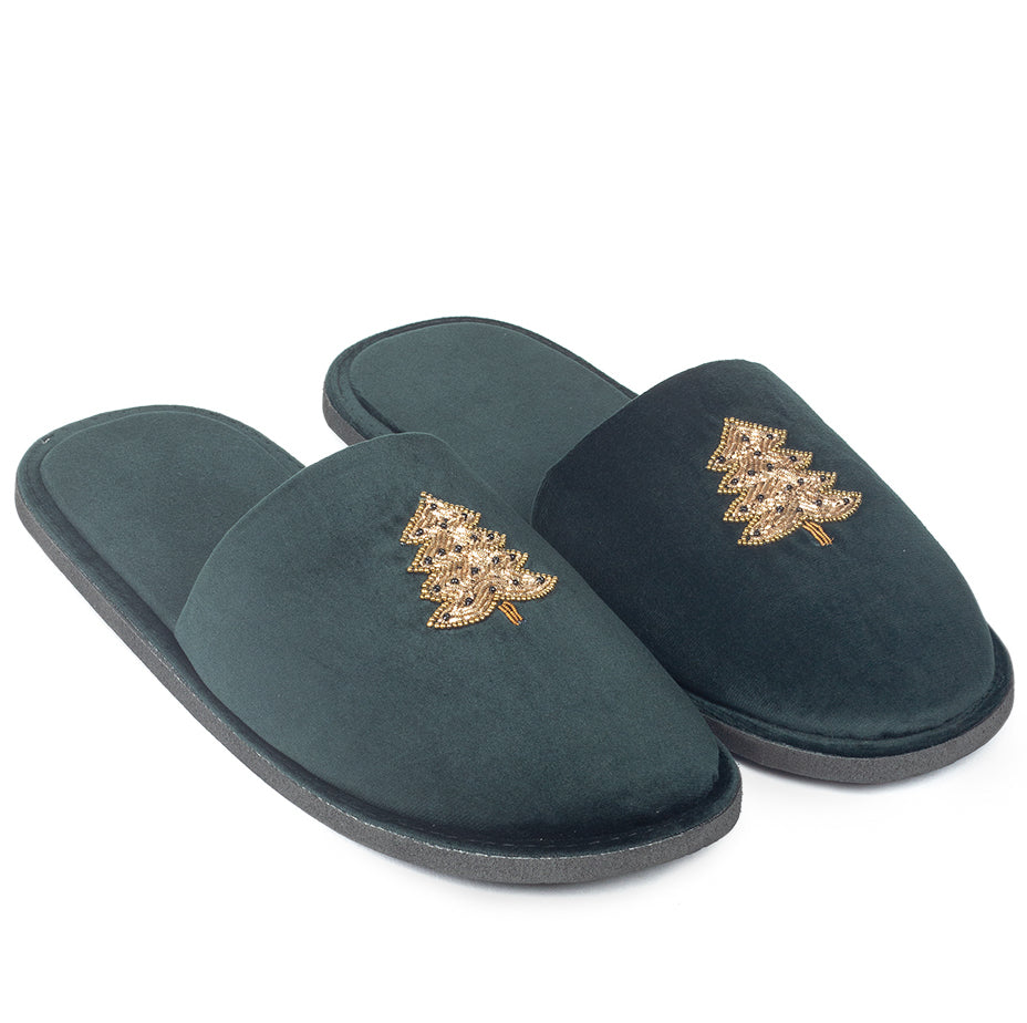 Christmas Tree Domani Mules Slippers© (Limited Edition)