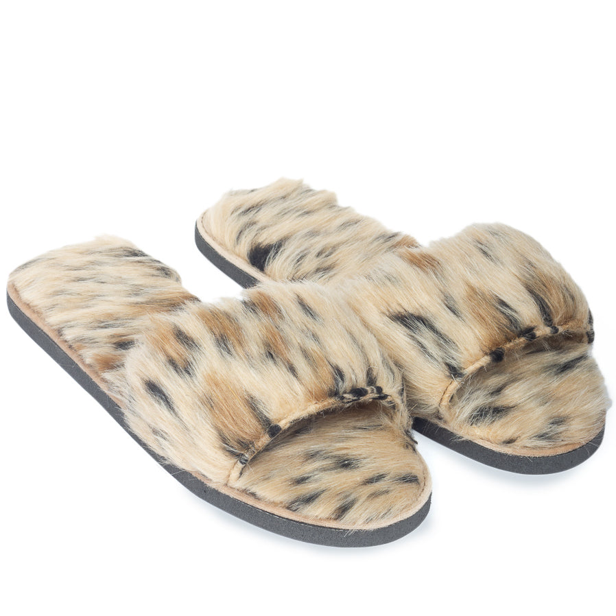 Leopardess Fur Domani Slippers© (Limited Edition)