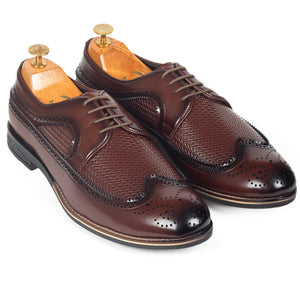 Mesh Lace Up Brogues (Chocolate Brown)