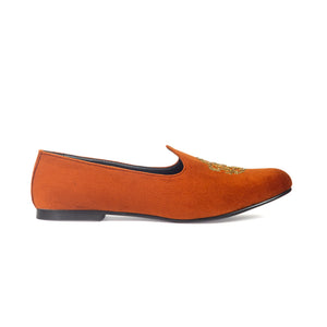 Royal Crest© Velvet Juttis (Orange Tan)
