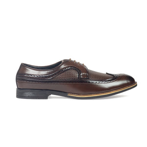 Mesh Lace Up Brogues (Coffee Brown)