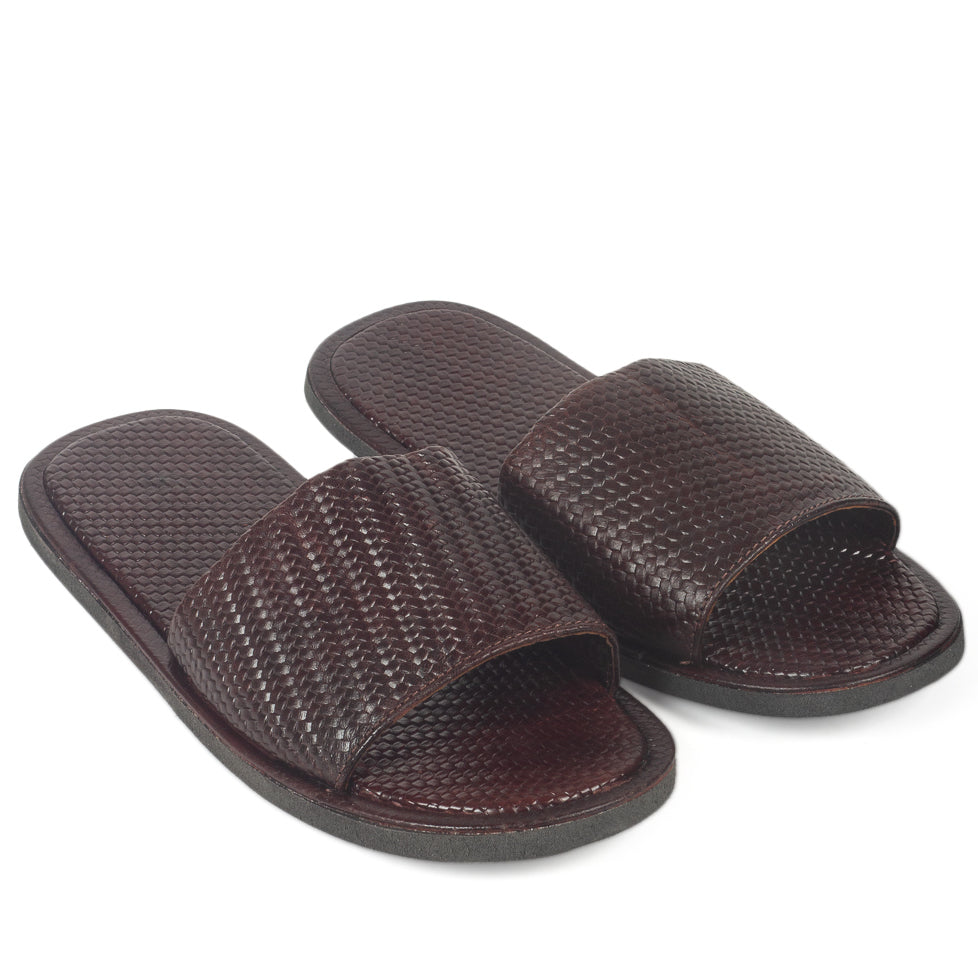 3D Textured Slippers (Brown)