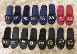 Customized Initials Slippers (Made To Order)