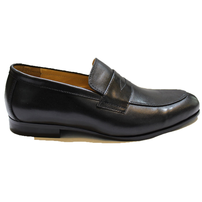 Leather Classic Penny Slipons (Black)