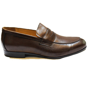 Leather Classic Penny Slipons (Brown)