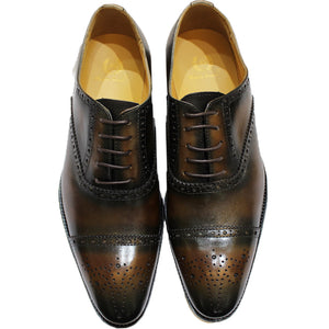Oil Hand Burnished Olive-Brown Brogues (LIMITED EDITION)