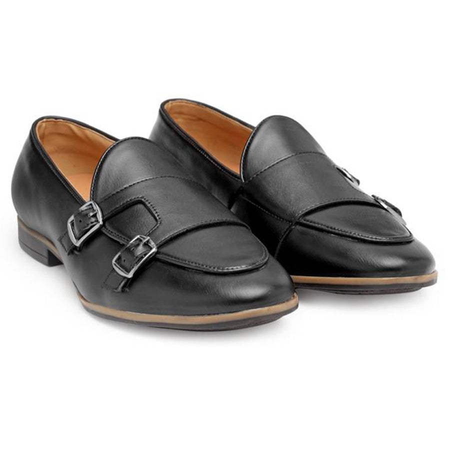 Low Cut Dual Monkstraps (Black)