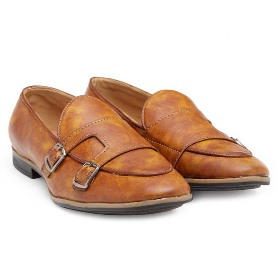 Low Cut Dual Monkstraps (Tan)