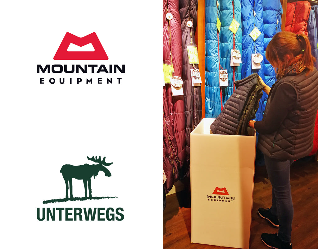 Daunen-Sammelaktion Unterwegs & Mountain Equipment