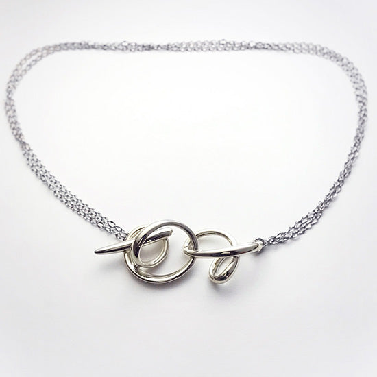 silver necklace<br>DR041