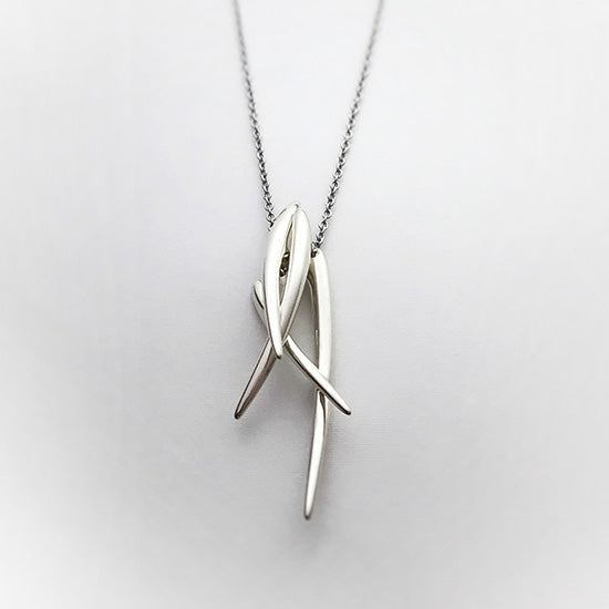 silver necklace<br>DR071