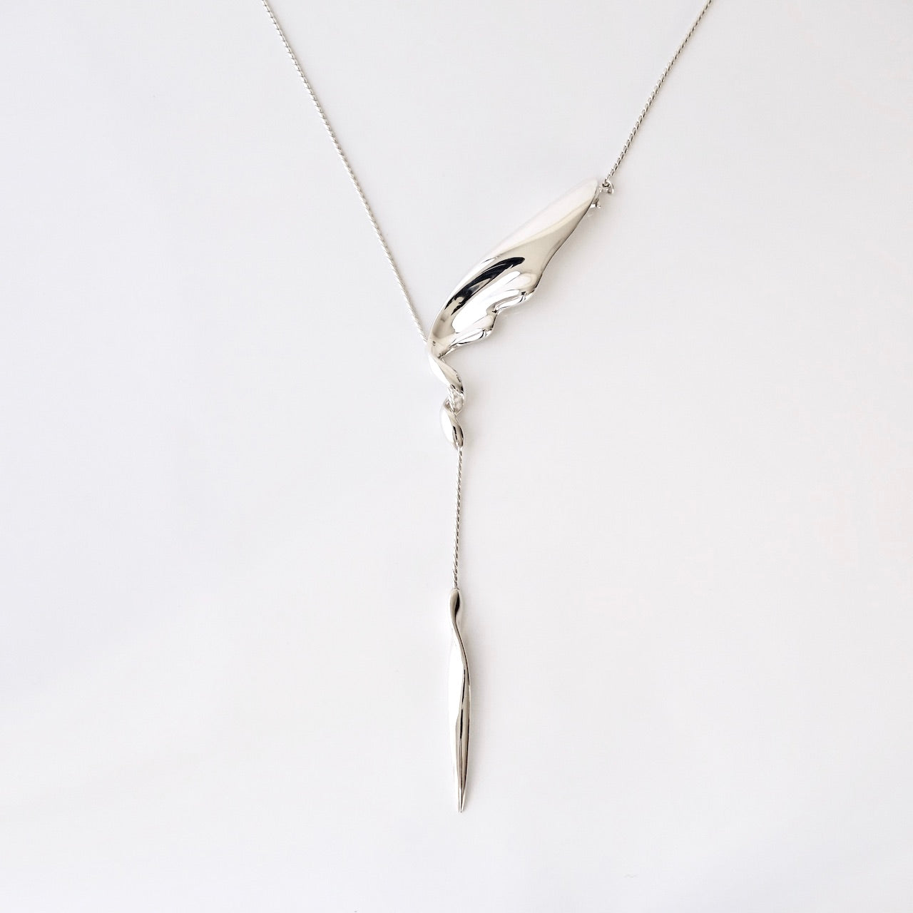 silver necklace<br>TE032