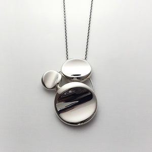 silver necklace & brooch<br>WA021