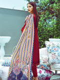 3 Piece Embroidered Desert Storm Stitched Lawn Suit with Digitally Printed Silk Dupatta KSE-8035 KHAS STORES US