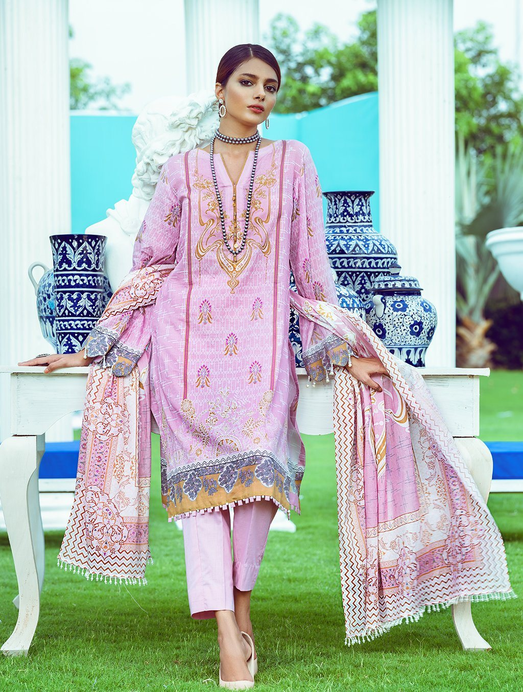 3 Pieces Stitched Euphoria Printed Lawn Suit KLA-9095 KHAS STORES US