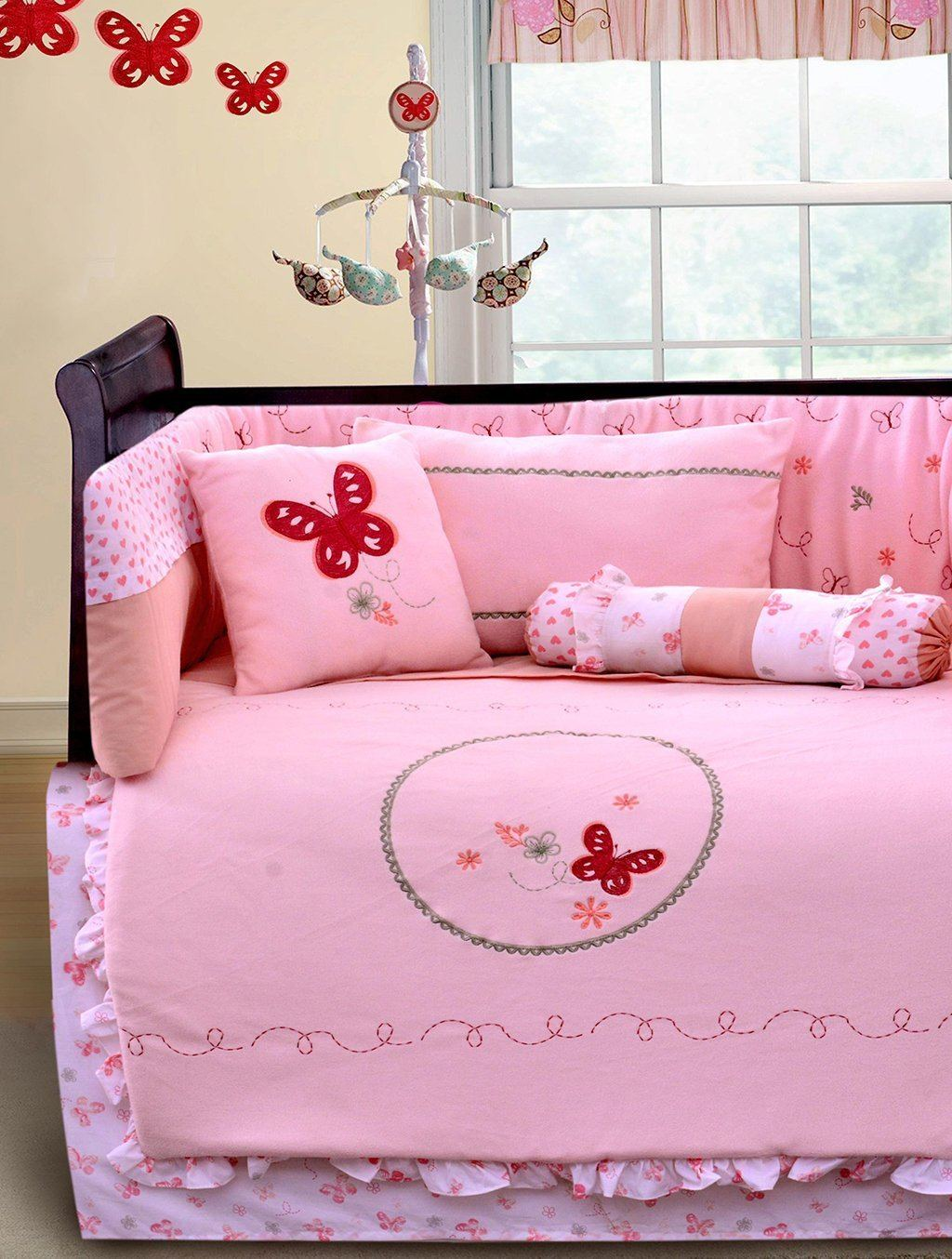 BUTTERFLY MEADOW Cot Sets HOMBEDLIT Baby Cot Sets SINGLE