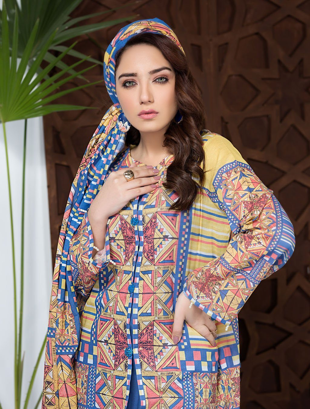 Festive in Field KLA - 9077 stitched Warm Browns