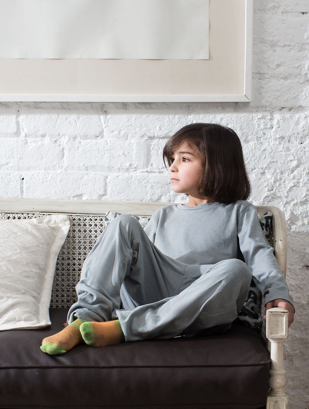 GIRLS GREY COTTON LOUNGEWEAR LW-001 LOUNGEWEAR FASSTIGIR
