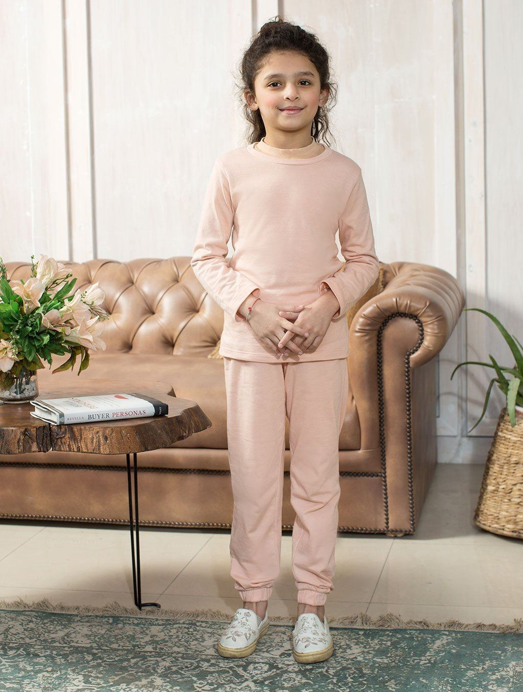 GIRLS PEACH COTTON LOUNGEWEAR LW-001 LOUNGEWEAR FASSTIGIR