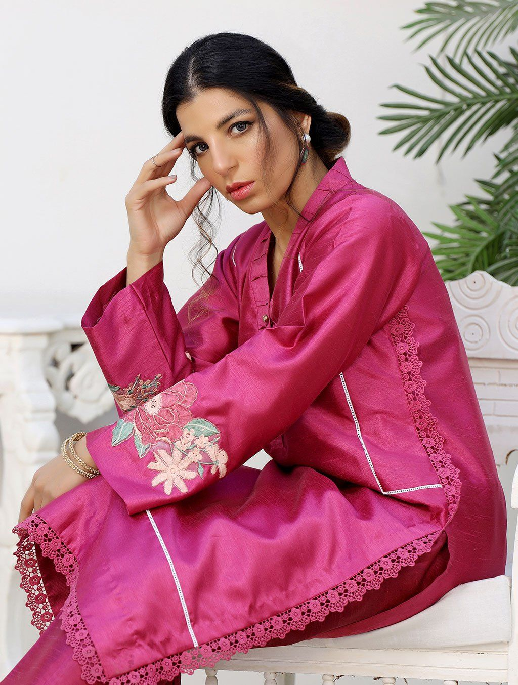 Luxury Embroidered Tefta Pret Kurti KLS-58 Luxury Pret FASSTILAD