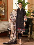 3 Piece Stitched Midnight Embroidered Linen Suit KLE-15010