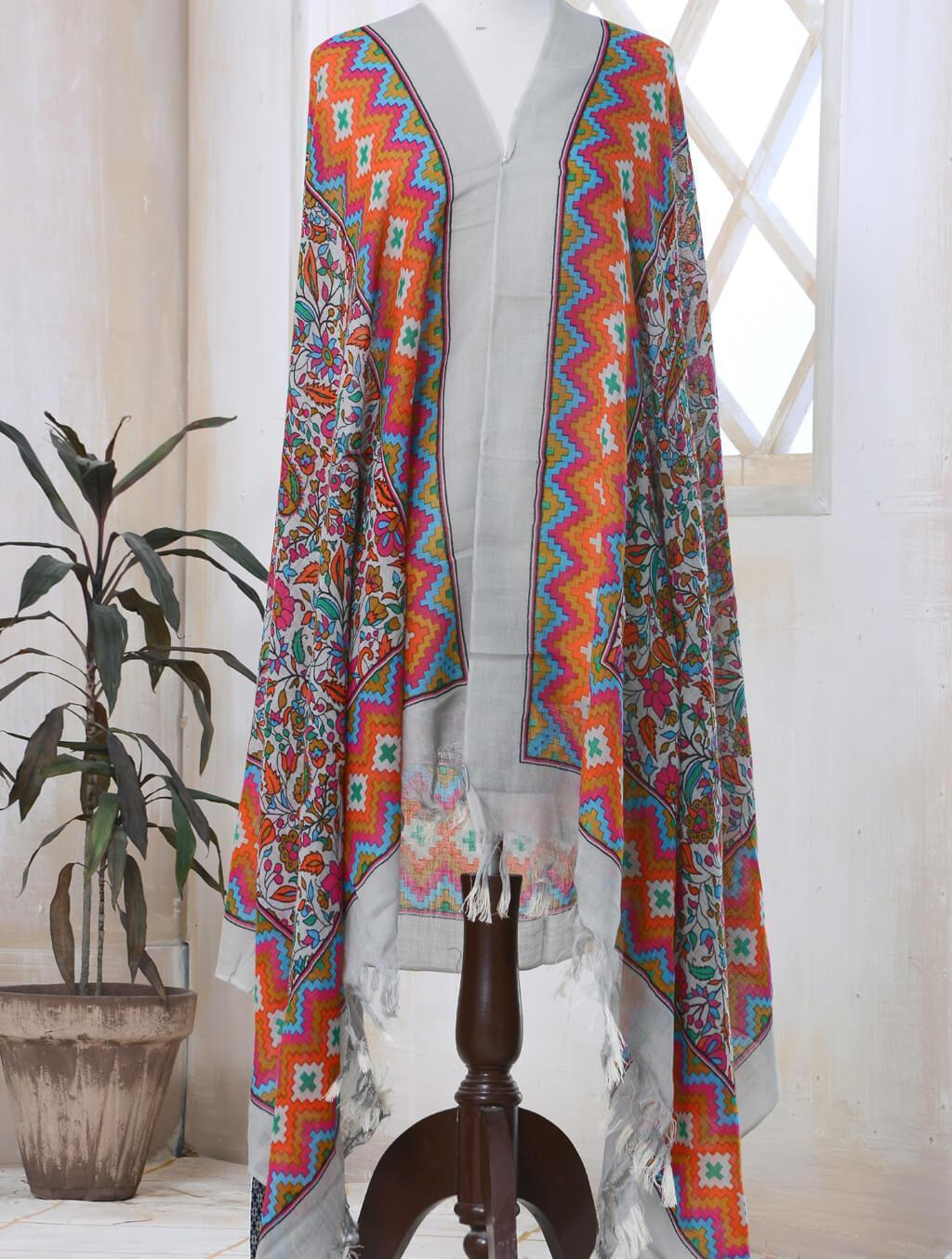 Printed Cashmere Shawl ATS-002 Wraps FASUNSLAD