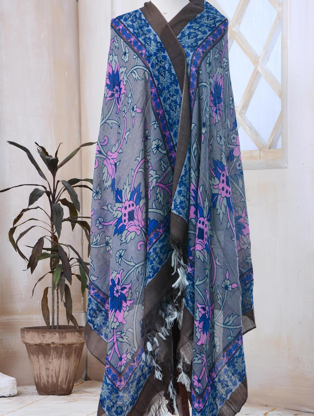 Printed Cashmere Shawl ATS-005 Wraps FASUNSLAD