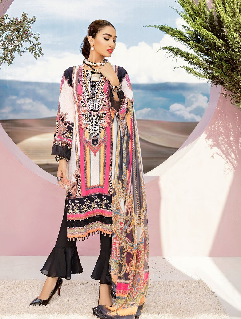 Shirt Shalwar Dupatta KC-5087 Khas Lawn 2020 - Volume 3 FASUNSLAD