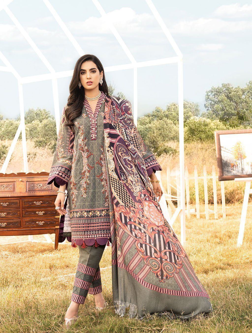 Shirt Shalwar Dupatta KKS-1019 Winter Collection 2020-Vol 2 FASUNSLAD