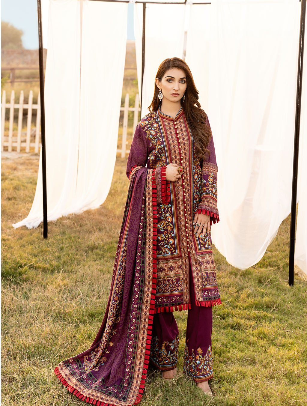 Shirt Shalwar Dupatta KLE-1023 Winter Collection 2020-Vol 2 FASUNSLAD