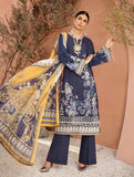3 Piece Stitched Wild life Embroidered Lawn Suit with Silk Dupatta KSE-8033