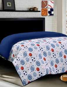 SPORTS BALL Teens & Kids Bedding HOMBEDIMP QUILT COVER QUEEN