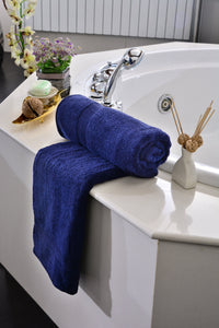 Towels Plain D/Blue Dyed Towels HOMBATTOW Bath Sheet