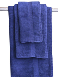 Towels Plain D/Blue Dyed Towels HOMBATTOW Face Towel