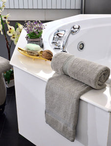 Towels Plain Sage Dyed Towels HOMBATTOW