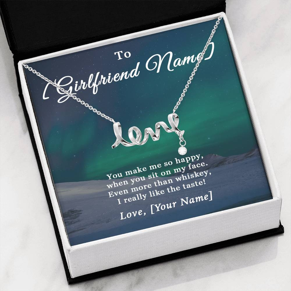 Girlfriend More Than Whiskey Love Necklace