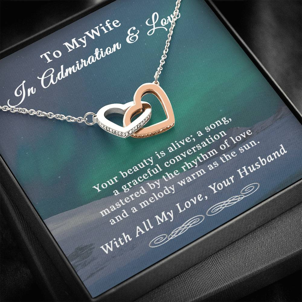 Husband To Wife Rhythm Of Love Hearts Necklace