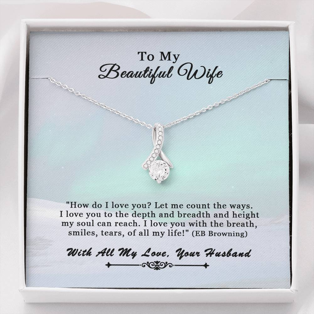 Husband To Wife Alluring Beauty How Do I Love You Necklace