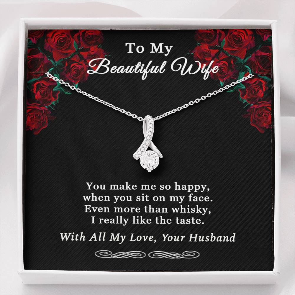 Husband To Wife Alluring Beauty Happy Necklace