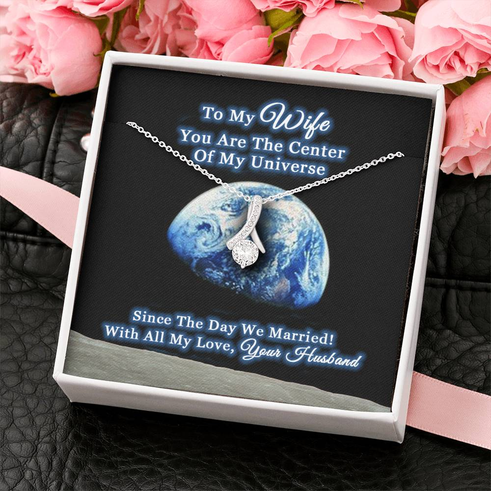Husband To My Wife Center Of Universe Necklace