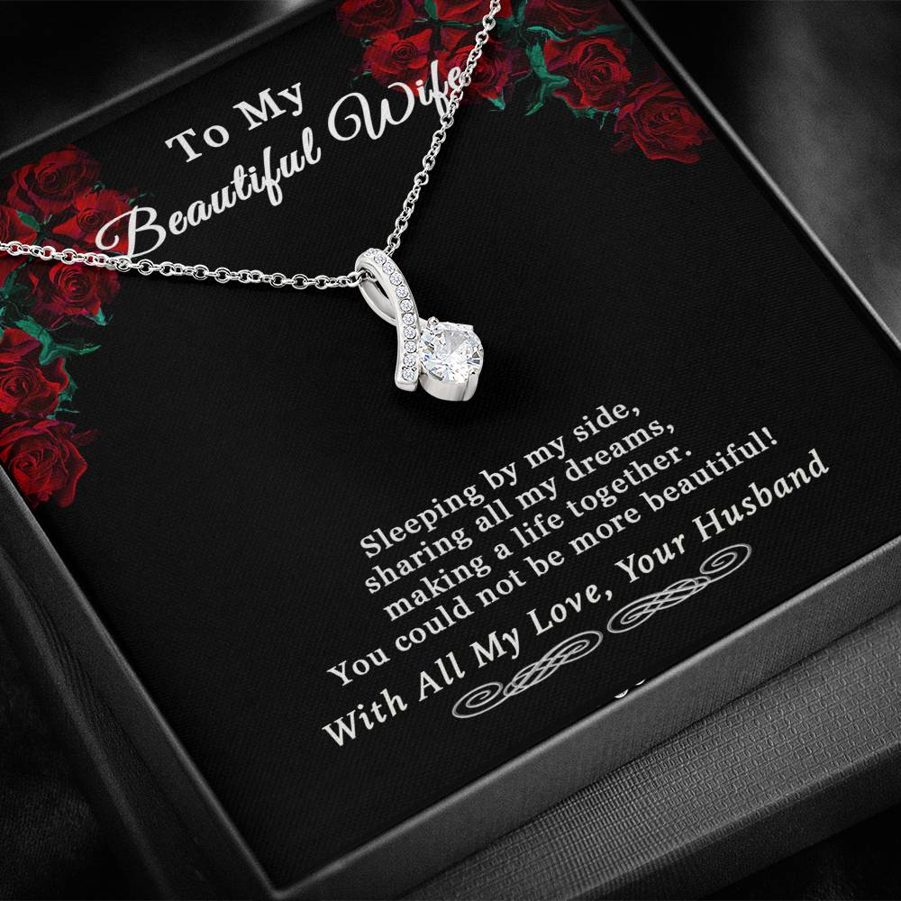 Husband To Wife Alluring Beauty Sleeping By My Side Necklace