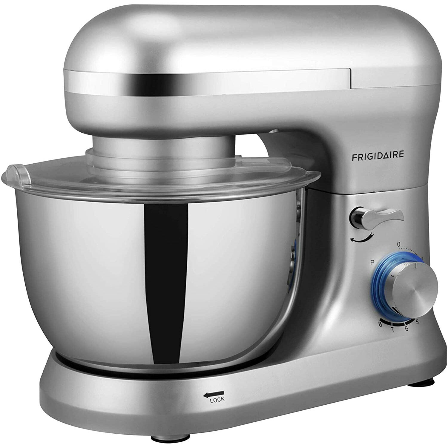 Frigidaire 4.5 Liter Stand Mixer, 8 Speeds with Dough Hook and Metal Whisk