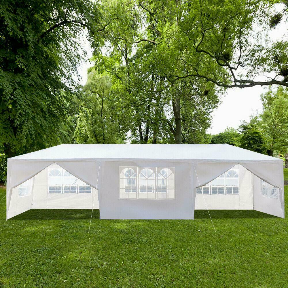 Gazebo Canopy Wedding Party Tent 10'x30' White Outdoor With 8 Removable Walls