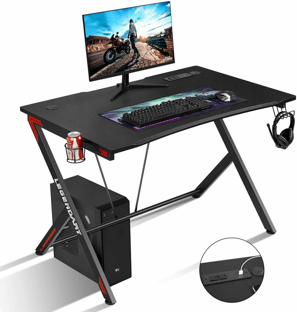 "Ergonomic Gaming Desk 45"" PC Desk Racing Style Home Office E-sports"