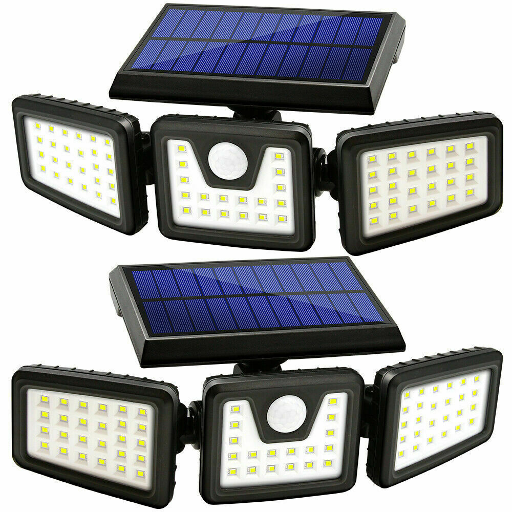 2 Pack WatchDog Solar Motion Sensor Wide Coverage Security Lights LED Waterproof Adjustable Floodlamp